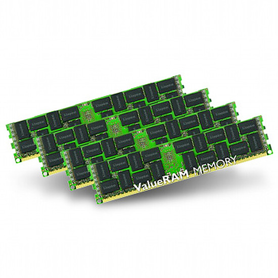 Mémoire Kingston ValueRAM DDR3 4 x 8 Go PC12800 ECC Registered
