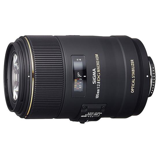 Objectif pour appareil photo Sigma 105mm f/2.8 DG Macro EX DG HSM (Nikon)