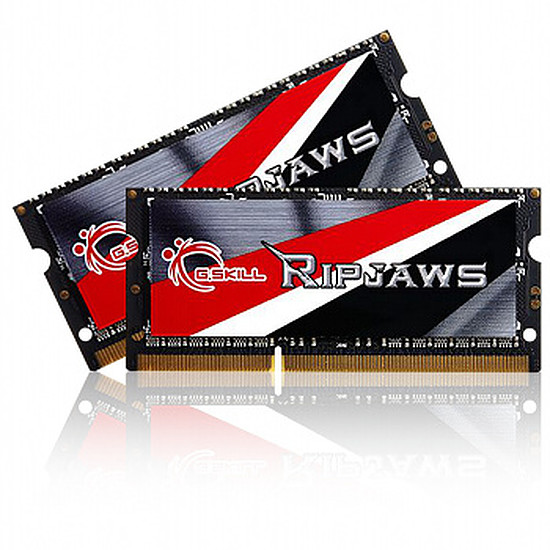 Mémoire G.Skill SO-DIMM DDR3 2 x 4 Go Ripjaws 1600 MHz CAS 9
