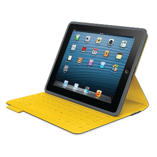 Accessoires tablette tactile Logitech Etui clavier iPad FabricSkin (Gris)