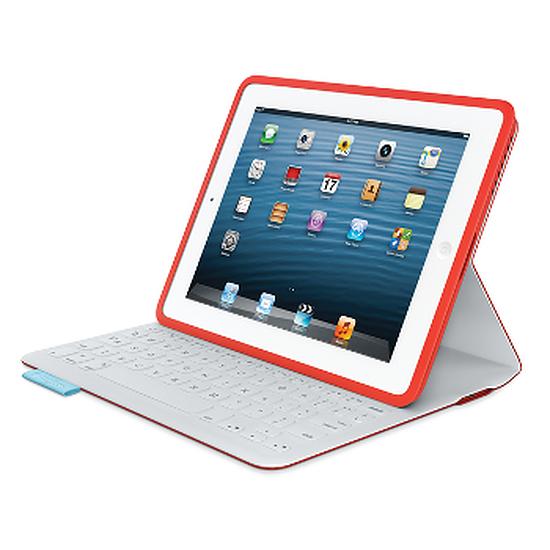 Accessoires tablette tactile Logitech Etui clavier iPad FabricSkin (Rouge)