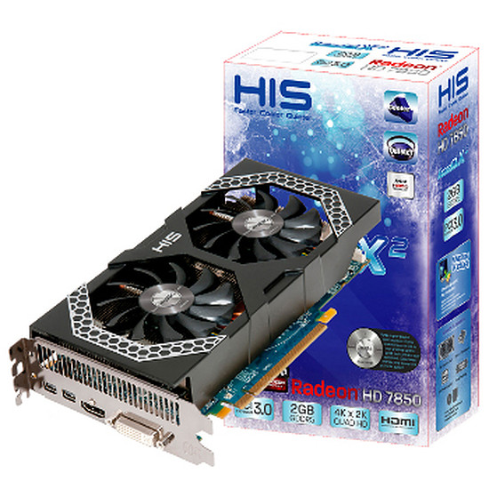 Carte graphique HIS Radeon HD 7850 IceQ X² iPower - 2 Go