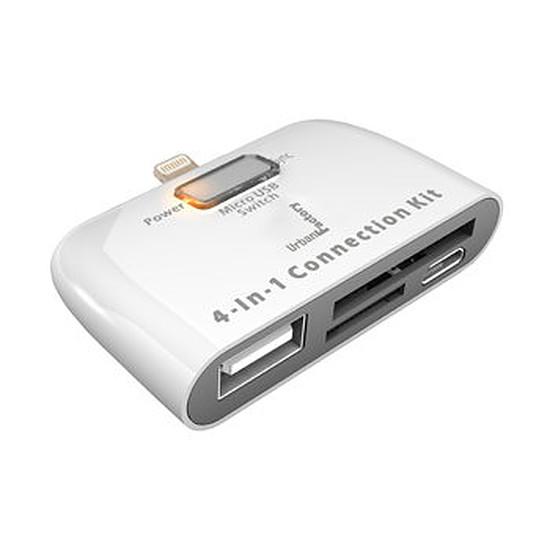 Accessoires tablette tactile Urban Factory Adaptateur Lightning/USB/SD Card pour iPad v4/v5