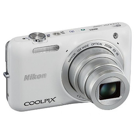 Appareil photo compact ou bridge Nikon Coolpix S6600 Blanc