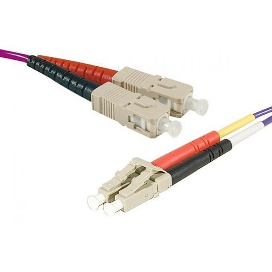 Câble fibre Optique  Câble fibre optique LC/SC duplex 50/125 OM3 - 2 m