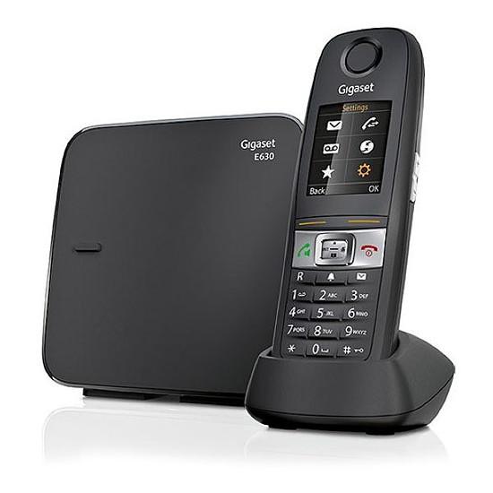 Téléphone fixe sans fil Gigaset E630 (noir) - Autre vue