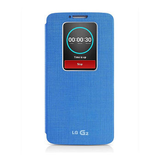 Coque et housse LG Etui Quick Windows (bleu) - LG G2