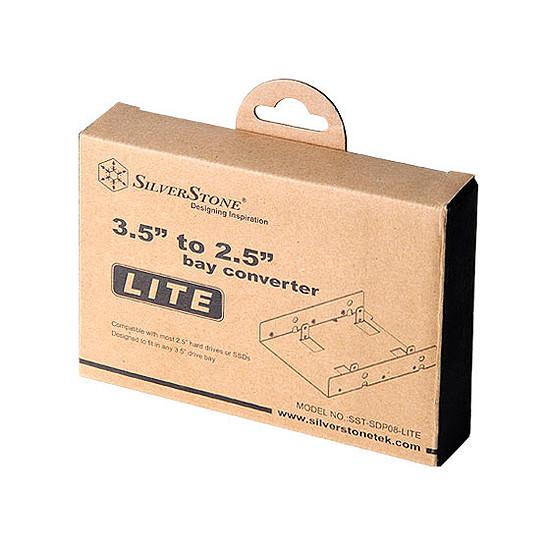 """Rack disque dur interne Silverstone Adaptateur 3,5"""" vers 2 x 2,5"""" - SDP08-Lite - Autre vue"""
