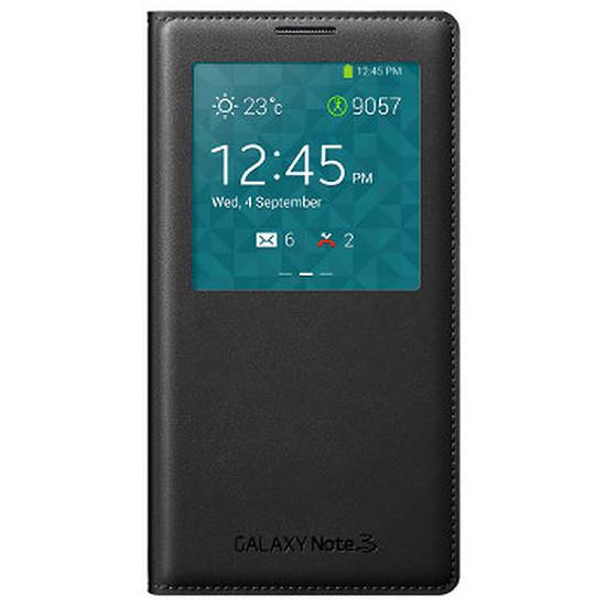 Coque et housse Samsung Etui Clear Cover (noir) - Galaxy Note 3
