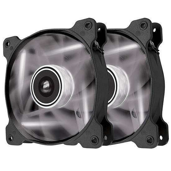 Ventilateur Boîtier Corsair AF120 LED Blanc Quiet Edition - Dual Pack