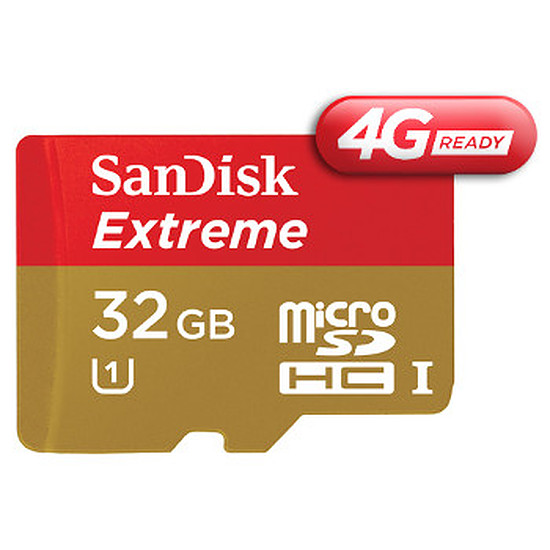 Carte mémoire Sandisk Mobile Extreme microSDHC 32 Go 4G (45Mo/s)