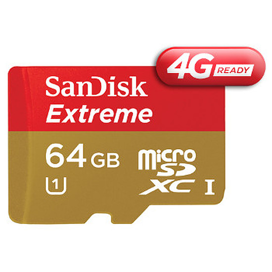 Carte mémoire Sandisk Mobile Extreme microSDHC 64 Go 4G (45Mo/s)