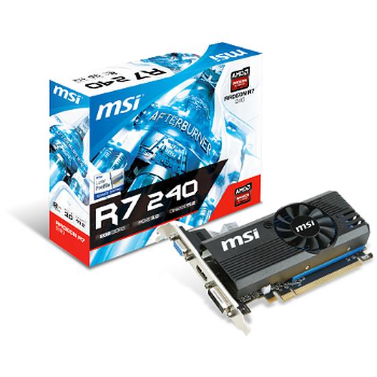 Carte graphique MSI Radeon R7 240 Low Profile - 2 Go (DDR3)