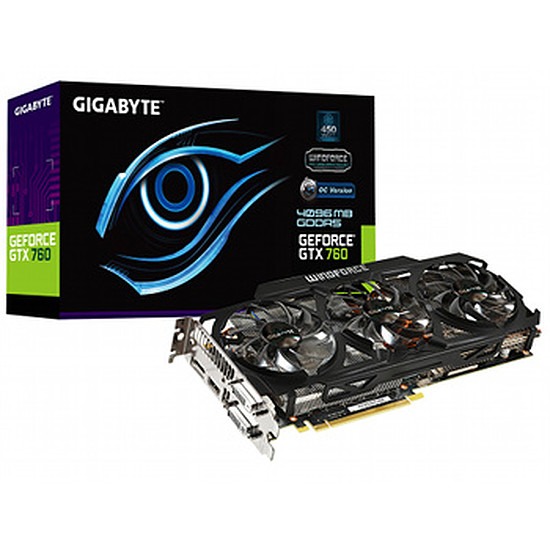 Carte graphique Gigabyte GeForce GTX 760 OC - 4 Go (GV-N760OC-4GD)