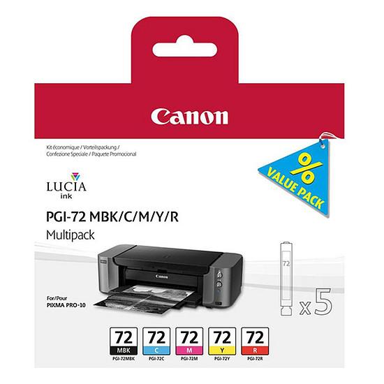 Cartouche imprimante Canon Multipack PGI-72 PBK/GY/PM/PC/CO
