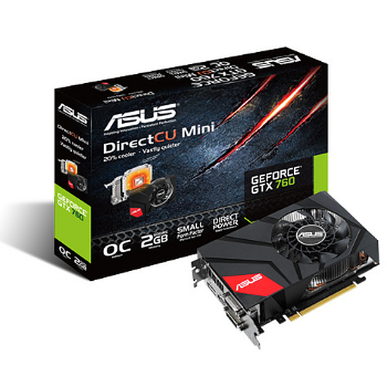 Carte graphique Asus GeForce GTX 760 Mini - 2 Go  (GTX760-DCMOC-2GD5)