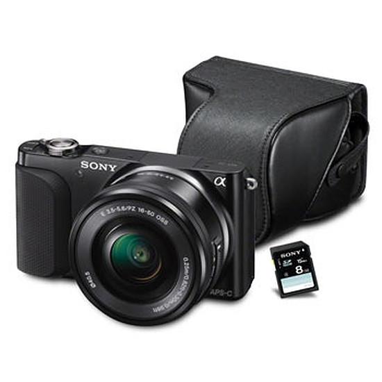 Appareil photo hybride Sony NEX-3N Noir + 16-50 mm + Etui dédié + Carte SD 8Go