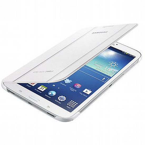 "Accessoires tablette tactile Samsung Étui Book Cover - Galaxy Tab 3 8"" (Blanc)"