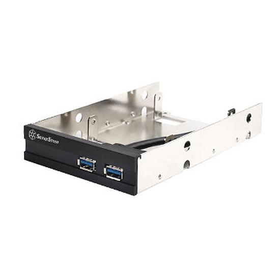 """Filtre anti-poussière Silverstone Façade 3,5"""" pour disque dur/SSD + USB 3.0- FP36B-E"""