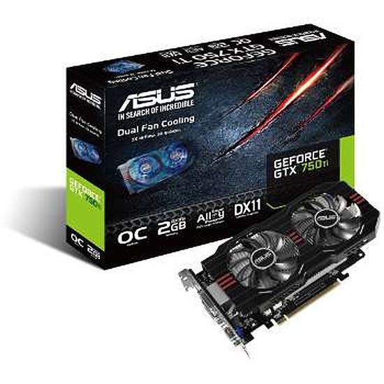 Carte graphique Asus GeForce GTX 750 Ti OC - 2 Go (GTX750TI-OC-2GD5)