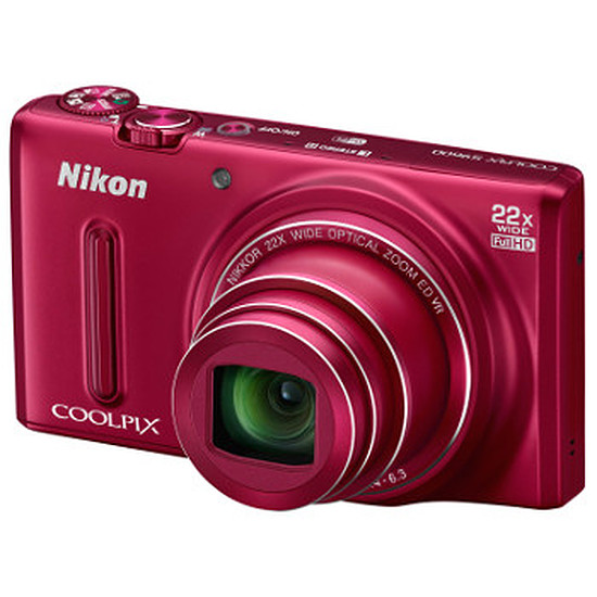 Appareil photo compact ou bridge Nikon Coolpix S9600 Rouge