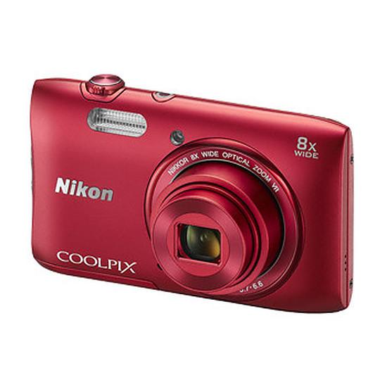 Appareil photo compact ou bridge Nikon Coolpix S3600 Rouge