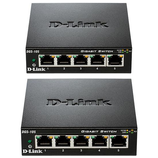Switch et Commutateur D-Link Pack de 2 switchs DGS-105