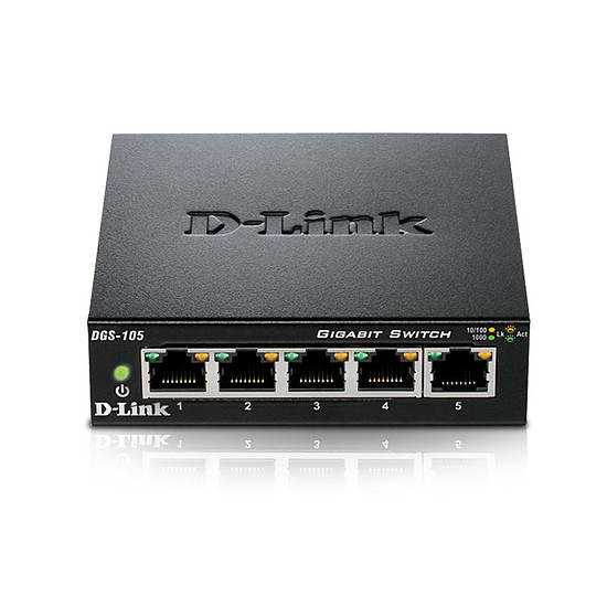 Switch et Commutateur D-Link Pack de 2 switchs DGS-105 - Autre vue