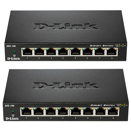 Switch et Commutateur D-Link Pack de 2 switchs DGS-108
