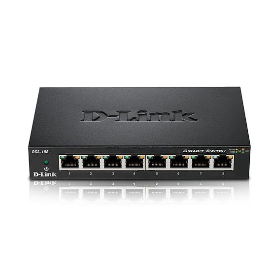 Switch et Commutateur D-Link Pack de 2 switchs DGS-108 - Autre vue