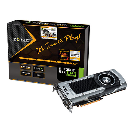 Carte graphique Zotac GeForce GTX Titan Black - 6 Go