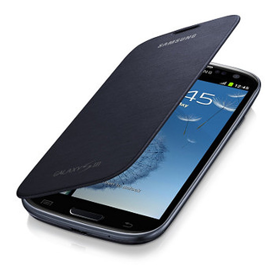Coque et housse Samsung Etui Flip Cover EFC-1G6FN - Galaxy S3 (noir)