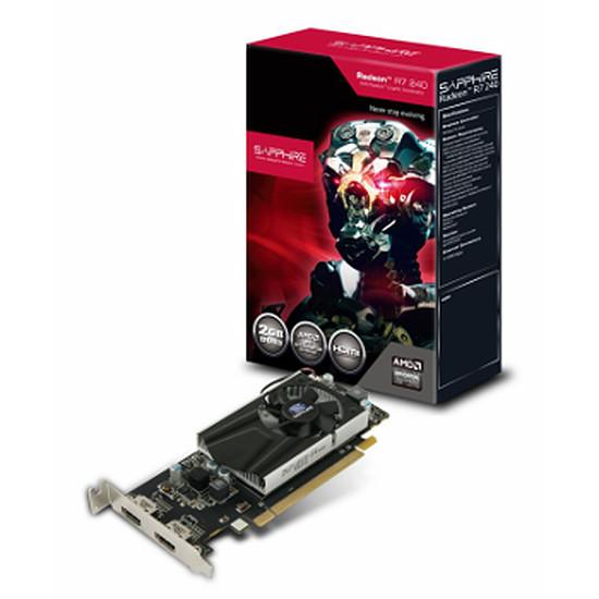 Carte graphique Sapphire Radeon R7 240 Boost - Low Profile - 2 Go