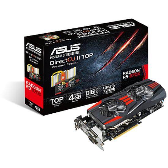 Carte graphique Asus Radeon R9 270X DC2 Top - 4 Go