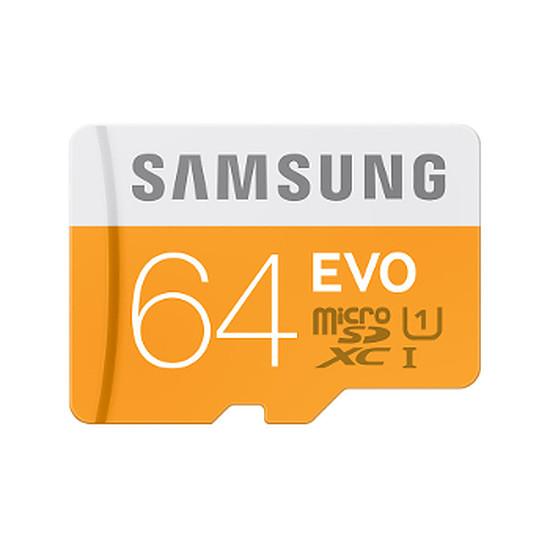 Carte mémoire Samsung Evo Micro SDXC 64 Go (48Mo/s)