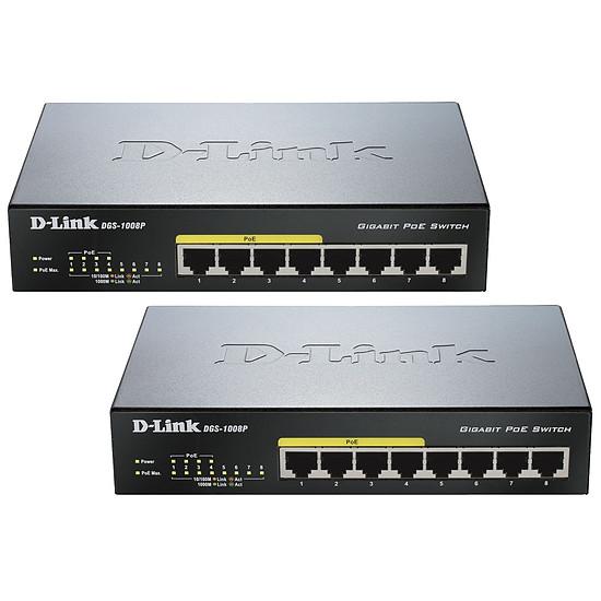 Switch et Commutateur D-Link Pack 2 switchs DGS-1008P - 8 Ports POE - Autre vue