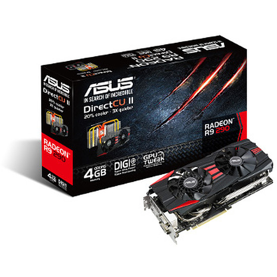 Carte graphique Asus Radeon R9 290 - 4 Go