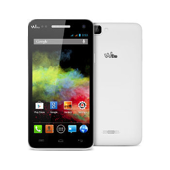 Smartphone et téléphone mobile Wiko Rainbow (blanc)
