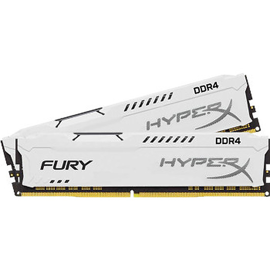 Mémoire HyperX Fury White DDR3 2 x 4 Go 1600 MHz CAS 10