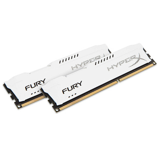 Mémoire HyperX FURY WHITE DDR3 2 x 8 Go 1600 MHz CAS 10