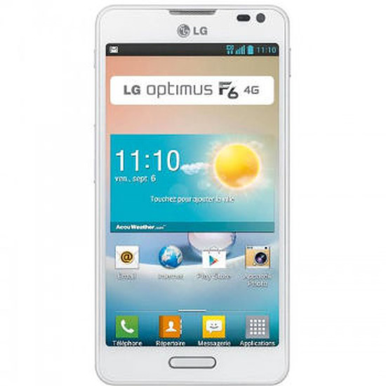 Smartphone et téléphone mobile LG Optimus F6 (blanc)