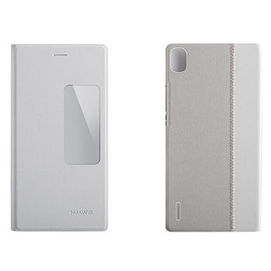 Coque et housse Huawei Etui à rabat view cover (blanc) - Ascend P7