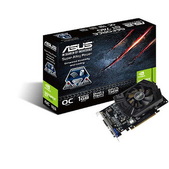 Carte graphique Asus GeForce GT 740 - 1 Go OC (GT740-OC-1GD5)