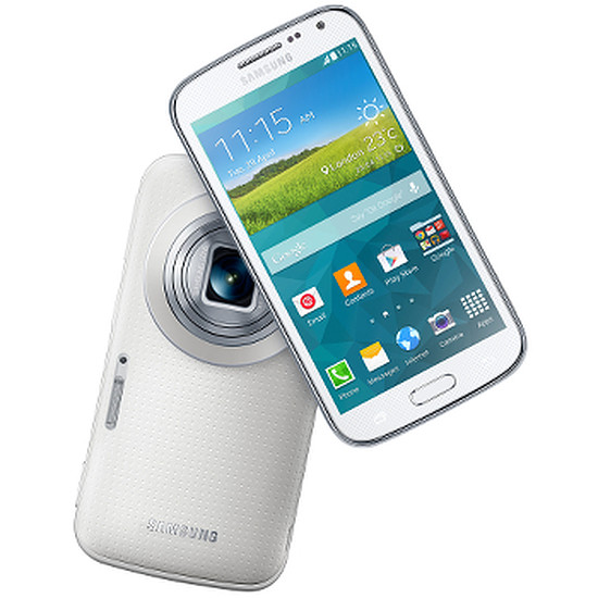 Smartphone et téléphone mobile Samsung Galaxy K Zoom (blanc)