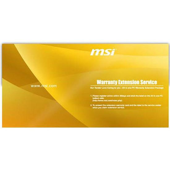 PC de bureau MSI Extension de garantie PC tout-en-un MSI