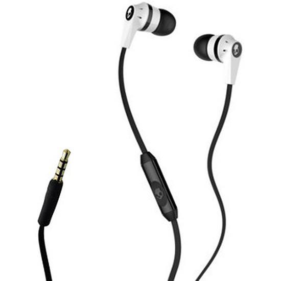 Casque Audio Skullcandy Écouteurs INKD 2.0 avec micro Blanc