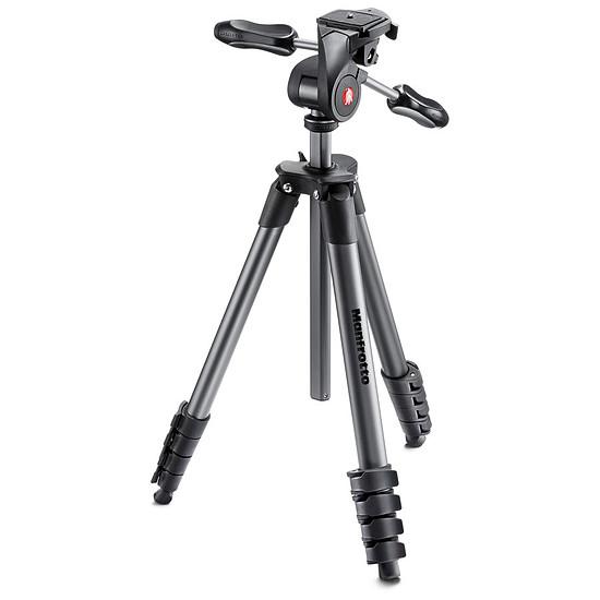 Trépied appareil photo Manfrotto Trépied Compact Advanced + Rotule 3D Noir