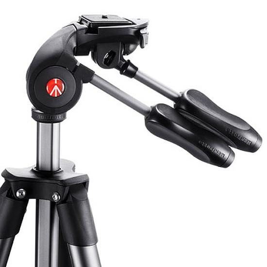 Trépied appareil photo Manfrotto Trépied Compact Advanced + Rotule 3D Noir  - Autre vue