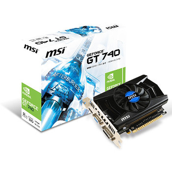 Carte graphique MSI GeForce GT 740 - 2 Go (N740-2GD5)