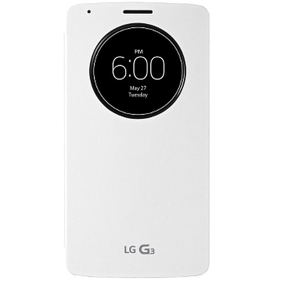 Coque et housse LG Etui Quick Windows Circle (blanc) - LG G3